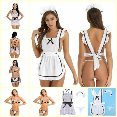 $8.79 • Buy US Women's Maid Sexy Ruffle French Lingerie Cosplay Fancy Dress Outfits Costume