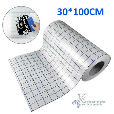 £3.49 • Buy Vinyl Transfer Paper Tape Roll Adhesive 30 X 100cm Clear Alignment Grid