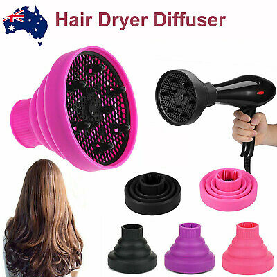 AU15.89 • Buy Silicone NEW Hair Dryer Universal Travel Professional Salon Foldable Diffuser AU
