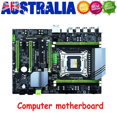 AU183.99 • Buy X79T Computer Motherboard ATX LGA 2011 Motherboard With 4x DDR3 Memory Slots