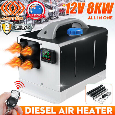 AU177.99 • Buy Warmtoo Diesel Air Heater 12V 8KW 4-Hole ALL IN ONE Thermostat Caravan RV Boat