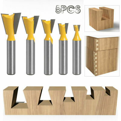 £12.39 • Buy 1 Set Dovetail Cutter 8mm Shank Dovetail Router Bit Slotting Knife Woodworking