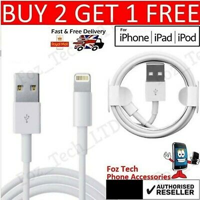 £3.45 • Buy Genuine IPhone Charger For Apple Long Cable USB Lead 5 6 7 8 X XS XR 11 12 SE