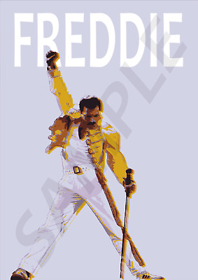 £7.45 • Buy Freddie Mercury Poster Queen 1970s 80s Pop Music Retro Wall Art A5 To A1