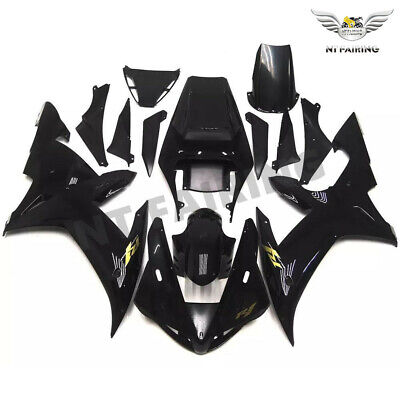 $549.99 • Buy FT Fit For Yamaha R1 YZF 2002-2003 Glossy Black Injection ABS Fairing Kit V038
