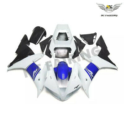 $549.99 • Buy FT New Fit For Yamaha R1 YZF 2002-2003 White Blue Injection ABS Fairing Kit V029