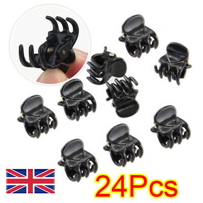 £2.99 • Buy 24 X Mini Plastic Hair Claw Clamps Bulldog Clips Grips Style Fashion Accessory