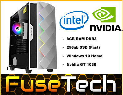 AU499.99 • Buy CHEAPEST Intel PC | 256gb SSD | NVIDIA | Gaming PC RGB Computer Office Desktop