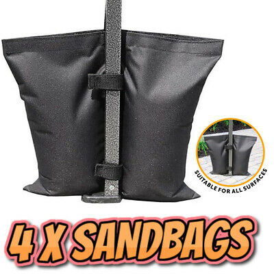 £13.95 • Buy 4 X Gazebo Weights Sand Bags For Feet Leg Pole Anchor Tent Marquee Market Stall