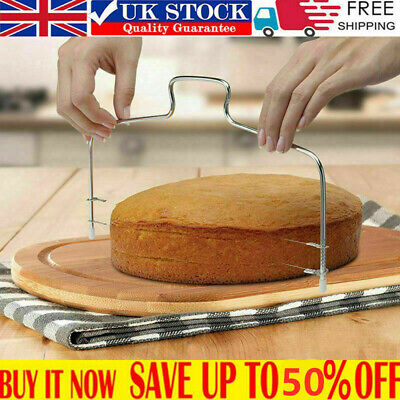 Double Layer Cake Leveller Wire Slicer Cutter Adjustable Layer Cutting Tools • 4.19£