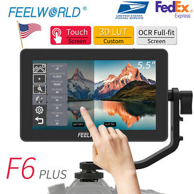 AU191.92 • Buy FEELWORLD F6 PLUS Monitor 5.5  3D LUT 4K HDMI Video On Camera For DSLR US Stcok