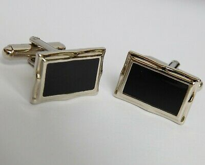 £5 • Buy Cheap Black And Silvertone Cufflinks For Men Or Women Gh