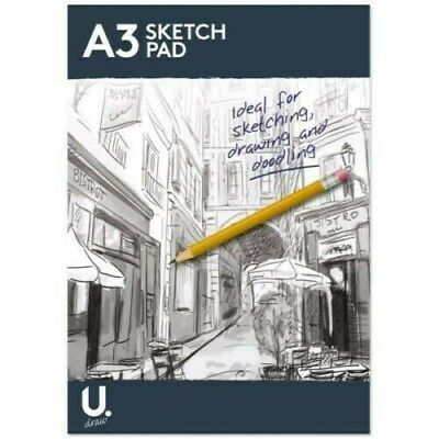 £4.45 • Buy A4 A3 Sketch Pad Book White Paper Artist Sketching Drawing Doodling Art Craft
