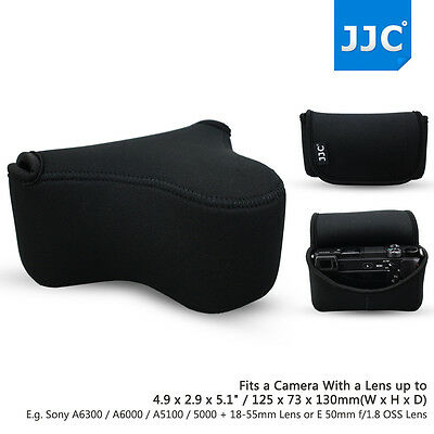 AU19.99 • Buy Camera Pouch Case Bag For Sony A6500 A6400 A6300 A5100+18-55mm ,50mm F/1.8 Lens