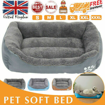 Dog Beds Pet Mat Cushion House Waterproof Soft Bed Kennel Blanket Extra Large UK • 16.49£