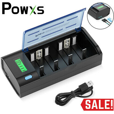 £14.99 • Buy POWXS Universal LCD Battery Charger For AA AAA C D Cell 9V Ni-CD Ni-MH Batteries