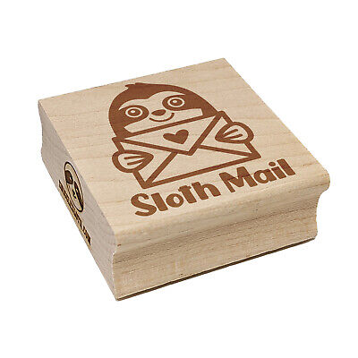 $6.99 • Buy Sloth Mail Square Rubber Stamp For Stamping Crafting