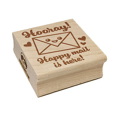 $6.99 • Buy Hooray Happy Mail Is Here Square Rubber Stamp For Stamping Crafting