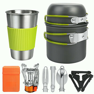 £16.33 • Buy 8Pcs/Set Camping Cookware Kit Outdoor Picnic Hiking Climbing Cooking Equipment