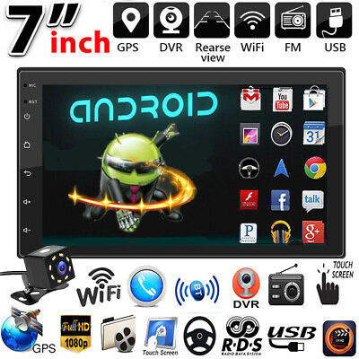 AU119.99 • Buy 7  2Din Android 10.1 Car Stereo MP5 Player Bluetooth GPS WiFi FM Radio+Camera