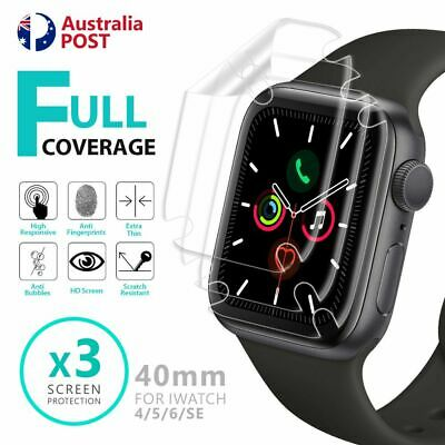 AU4.25 • Buy For Apple Watch IWatch Series 4 5 6 SE 40/44mm Full Soft Clear Screen Protector