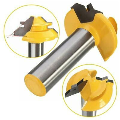 £4.95 • Buy 1/2  Shank 45 Degree Router Bit Lock Miter Slotted Milling Cutter Tool