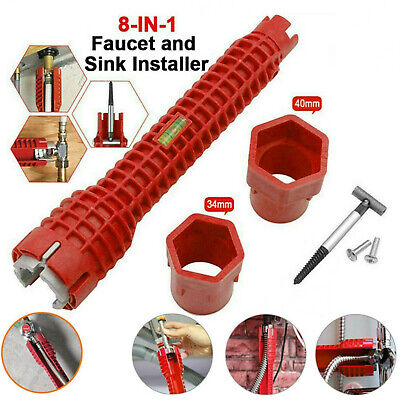 £8.99 • Buy 8IN 1 Faucet&Sink Installer Multi Tool Pipe Wrench For Plumbers Homeowners