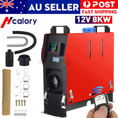 AU166.99 • Buy HCalory All IN ONE 12V 8KW Diesel Air Car Parking Heater Thermostat Caravan Boat