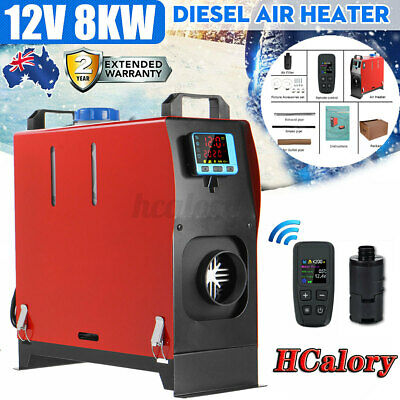 AU166.99 • Buy HCalory 12V 8KW All IN 1 Diesel Air Heater Thermostat LCD For RV Trailer Boat