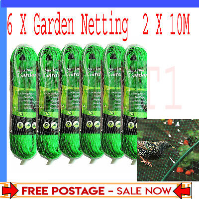 £14.29 • Buy 6 X Garden Bean 2m X 10m And Pea Netting Fruit Tree Butterfly Strawberry Netting