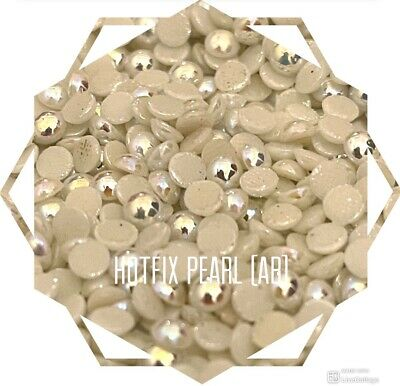 £5.99 • Buy  1440 Pcs  Pack ,Hotfix Iron On Crystals ,Cabachon Domed (Pearl, Pearl AB) Beads