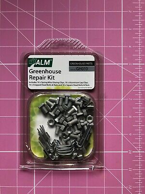 £5.89 • Buy Greenhouse Repair Kit Glazing Clips Z Clips Cropped & Square Head Bolts