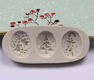 £2.99 • Buy Christmas Tree Bell Silicone Cake Fondant Mold Chocolate Baking Mould Cupcake 3D