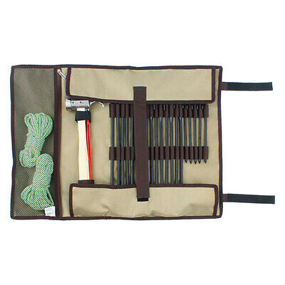AU24.76 • Buy Storage Bag Heavy Duty Tent Nail Hammer Stakes Pegs Camping Hiking Pouch Case H