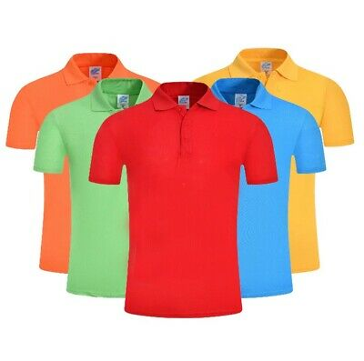 £5.99 • Buy  Mens Polo T Shirt Top Casual Soft Cotton Short Sleeve Plain Tipping   XS To 4XL