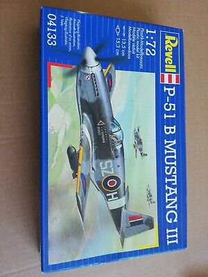 REVELL - 04133 - P-51 B Mustang III Kit Sealed With Decals.  • 3.41£