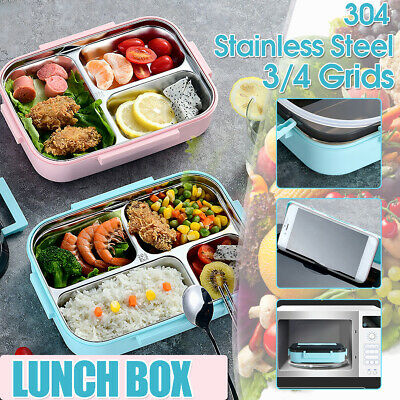 AU17.42 • Buy AU Stainless 3/4 Grids Thermal Insulated 1200ml Lunch Box Bento Foo T M