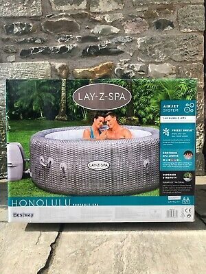 Lay-Z-Spa Honolulu - Premium 6 Person Hot Tub With LED Lighting - Brand NEW • 750£