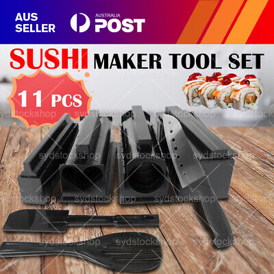AU16.99 • Buy 11PCS DIY Sushi Maker Making Kit Rice Roller Set Mold For Beginners Kitchen Tool
