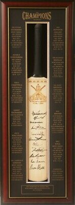 AU750 • Buy Blazed In Glory - The Champions Of Cricket -  Hand Signed Cricket Bat