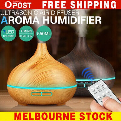 AU18.29 • Buy 550ML Aroma Aromatherapy Diffuser LED Oil Ultrasonic Air Humidifier Purifier