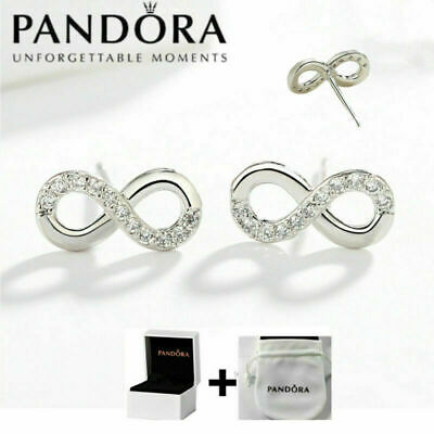 AU13.99 • Buy NEW Genuine Pandora Logo ∞ LOVE Cross Stud Earrings S925 Silver With Box