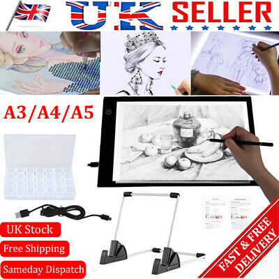 £13.95 • Buy A3/A4/A5 LED Light Pad For Diamond Painting USB Powered Light Board Kit W/ Stand