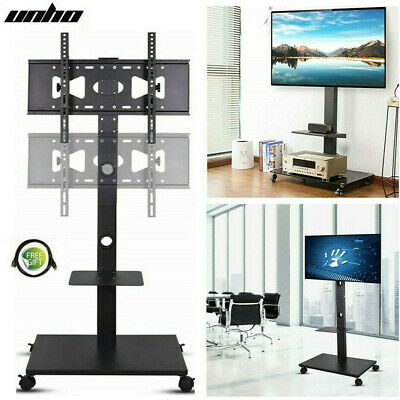 £53.92 • Buy 32 -70  Wheeled TV Mobile Floor Stand Moving Cart Mount Height Adjustable 30KG