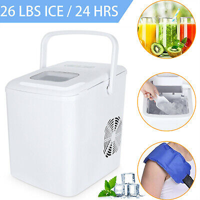$139.22 • Buy 2 IN 1 Ice Maker Water Dispenser Countertop 26Lbs/24H With Ice Scoop Portable