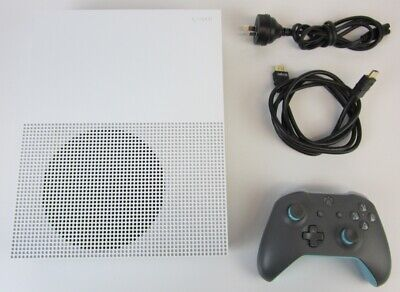 AU152.50 • Buy Microsoft Xbox One S All Digital 1tb White Console #1681 + Controller & Cables
