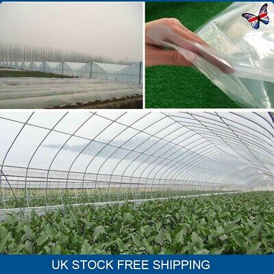 £10.79 • Buy 4m X 2m Thick Clear Heavy Duty POLYTHENE SHEETING Roll 250G Greenhouse Plastic