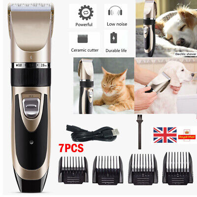 £7.99 • Buy USB Pet Dog Grooming Clipper Thick Fur Hair Trimmer Electric Shaver Set Tool UK