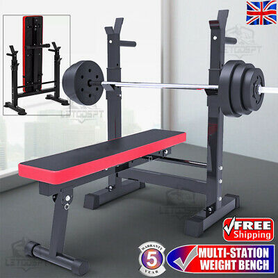 £74.99 • Buy Heavy Duty Adjustable Folding Sit Up Weight Bench Barbell Dip Station Lifting UK