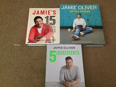 AU39.99 • Buy 3 X Jamie Oliver Cookbooks: 5 Ingredients & Jamie's Kitchen HC Used Good